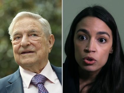Alexandria Ocasio-Cortez and George Soros