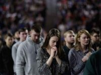 Christian college students praying