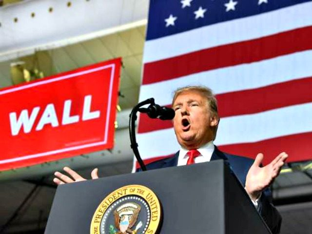 Trump Wall Rally Nicholas KammAFPGetty Images