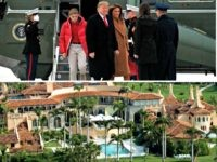 Trumps Head for Mar-a-Lago