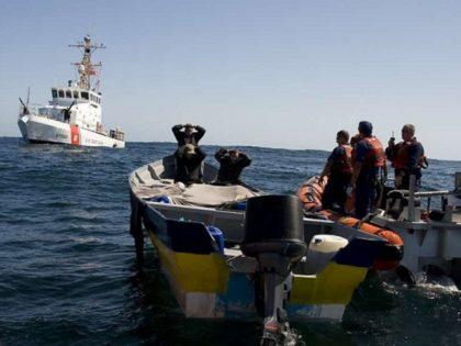 U.S. Coast Guard crews interdict drug shipment on a panga boat. (File Photo: U.S. Coast Guard/Henry Dunphy)