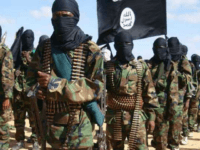 A file photo taken on February 13, 2012 shows members of the Al-Shabaab in Elasha Biyaha, Somalia