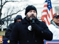 Chris Odette — father of Chrishia Odette — spoke to a crowd at a Fund the Wall protest in front of the White House on Saturday morning in Washington, DC. He and other speakers called for the construction of a border wall to protect American citizens.