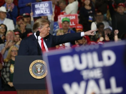 EL PASO, TEXAS - FEBRUARY 11: U.S. President Donald Trump speaks during a rally at the El Paso County Coliseum on February 11, 2019 in El Paso, Texas. Trump continues his campaign for a wall to be built along the border as the Democrats in Congress are asking for other …