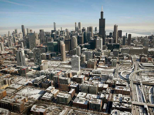 CHICAGO, ILLINOIS - JANUARY 31: Snow, ice and salt covers buildings and streets as temperatures during the past two days have dipped to lows around -20 degrees on January 31, 2019 in Chicago, Illinois. Businesses and schools have closed, Amtrak has suspended service into the city, more than a thousand …