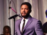 BEVERLY HILLS, CA - MAY 01: Actor/singer Jussie Smollett performs onstage during the 20th Anniversary Taste for a Cure fundraiser benefitting UCLA's Jonsson Comprehensive Cancer Center at the Beverly Wilshire Four Seasons Hotel on May 1, 2015 in Beverly Hills, California. (Photo by Michael Buckner/Getty Images for Jonsson Cancer Center …