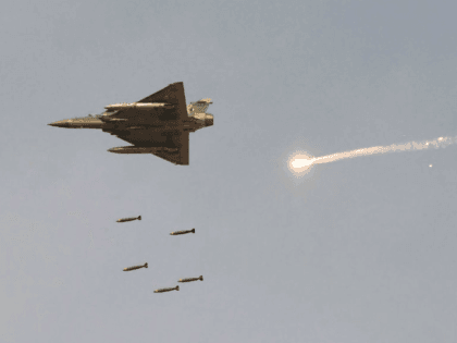 An Indian Air Force (IAF) Mirage-2000 fighter aircraft pictured during a fire-power demonstration on February 16, 2019.