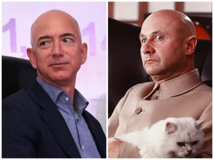 Amazon.com founder and CEO Jeff Bezos looks on during an event organised in New Delhi on October 1, 2014. The 'Creating an enabling environment for SMEs in the digital economy' event was organised by the Federation of Indian Chambers of Commerce and Industry (FICCI). AFP PHOTO/ SAJJAD HUSSAIN / AFP …