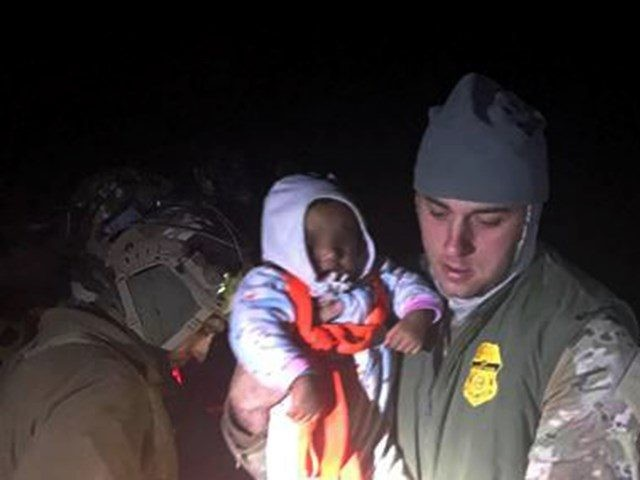 Border Patrol agents rescue a 1-year-old baby from the Rio Grande River near Eagle Pass, Texas. (Photo: U.S. Border Patrol/Del Rio Sector)