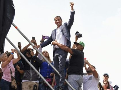 Opposition leader Juan Guaido Guaido, seen here at a gathering of supporters in Caracas on February 2, wants to set up a transitional government and hold new elections in Venezuela