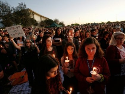 The Parkland survivors, pictured at a vigil the day after the massacre, rejected the usual outpourings of sympathy offered by politicians