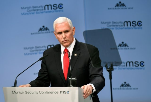 Pence urges EU to recognise Guaido as Venezuela president