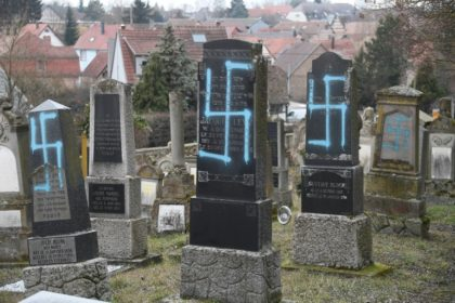 Dozens of Jewish cemeteries have been desecrated, and swastikas have been found scrawled on the doors of people's homes