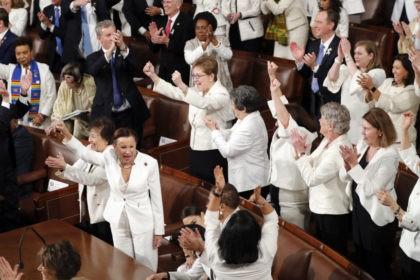 The Latest: Dem women, including Ocasio-Cortez, cheer Trump