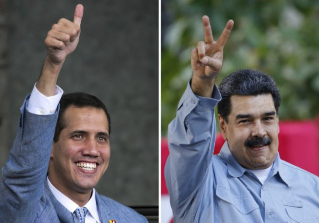 Juan Guaido, Nicolas Maduro