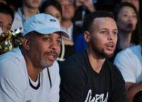 Stephen Curry's mom, Sonya, drains half-court shot