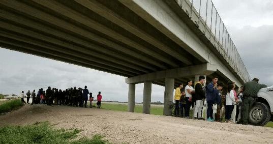 Large Migrant Group apprehended near Rio Grande River Photo: U.S. Border Patrol/Rio Grande Valley Sector
