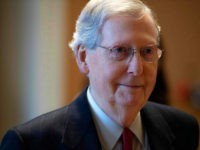 US Senate Majority Leader Mitch McConnell departs the Senate Chamber after a vote to reopen the government failed to pass on Capitol Hill in Washington, DC, on January 24, 2019. - Democratic- and Republican-backed proposals failed to garner the necessary 60 votes to pass. (Photo by Jim WATSON / AFP) …