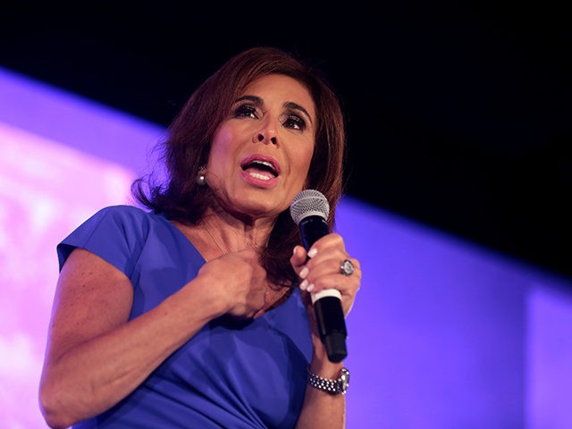 Jeanine Pirro speaking with attendees at the 2018 Young Women's Leadership Summit hosted by Turning Point USA at the Hyatt Regency DFW Hotel in Dallas, Texas.