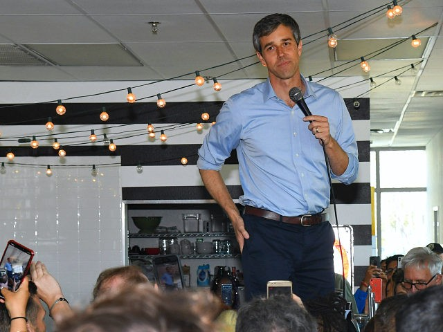LAS VEGAS, NEVADA - MARCH 24: Beto O'Rourke speaks to supporters during a meet-and-greet with the Mujeres Network at a home on March 24, 2019 in Las Vegas, Nevada. O'Rourke is campaigning for the 2020 Democratic nomination for president. (Photo by Ethan Miller/Getty Images)