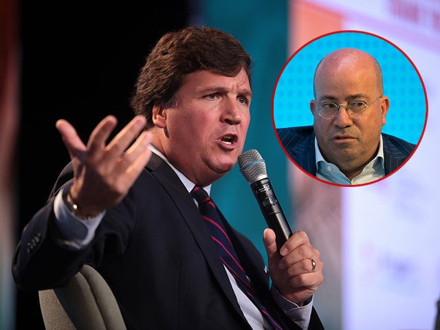 Tucker Carlson and CNN President Jeff Zucker.