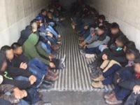 Laredo Sector Border Patrol agents rescue 76 migrants who were locked in a refrigerated trailer. (Photo: U.S. Border Patrol/Laredo Sector)