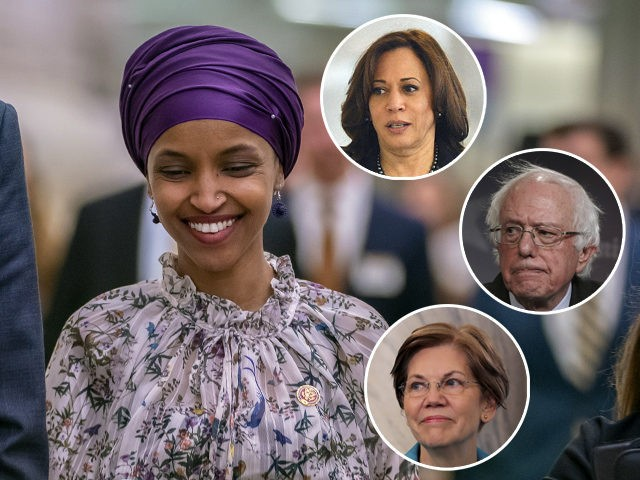 Rep. Ilhan Omar, D-Minn., walks through an underground tunnel at the Capitol as top House Democrats plan to offer a measure that condemns anti-Semitism in the wake of controversial remarks by the freshman congresswoman, in Washington, Wednesday, March 6, 2019. Omar said last week that Israel's supporters are pushing U.S. …