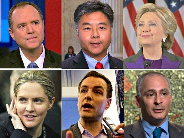 Adam Schiff, Ted Lieu, Hillary Clinton, Benjamin Wittes, Robby Mook, Louise Mensch