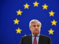 President of the European Parliament, Antonio Tajani stands as MP's observe a minute of silence in memory of murdered Maltese journalist and anti-corruption blogger Daphne Caruana Galizia, during a plenary session at the European Parliament in Strasbourg, eastern France, on October 24, 2017. / AFP PHOTO / PATRICK HERTZOG (Photo …
