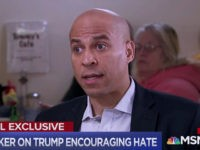 Booker: Racists Think Trump Is a Racist — His 'Language Is Causing Pain, Fear'