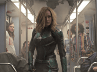 "Carol Danvers (Brie Larson, center) searches for hidden alien Skrulls in ""Captain Marvel."" (Photo: MARVEL STUDIOS)"