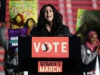 LAS VEGAS, NV - JANUARY 21: Singer/actress Cher speaks during the Women's March 'Power to the Polls' voter registration tour launch at Sam Boyd Stadium on January 21, 2018 in Las Vegas, Nevada. Demonstrators across the nation gathered over the weekend, one year after the historic Women's March on Washington, …