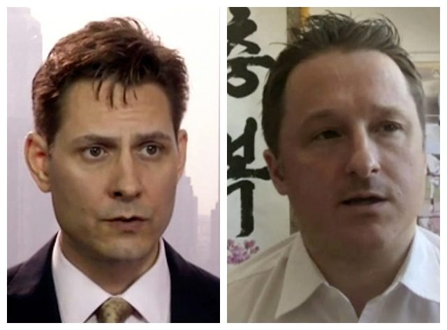 Combo photo of Michael Spavor and Michael Kovrig, Canadians whom China accused of espionage on Monday.