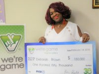 Virginia lottery winner Deborah Brown.