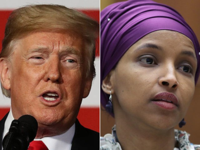 Donald Trump, Ilhan Omar - collage.