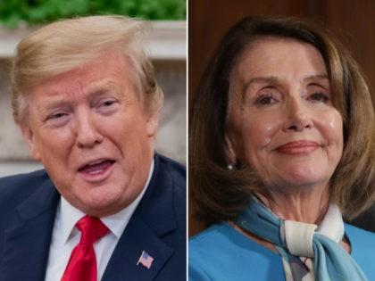 Donald Trump, Nancy Pelosi - collage.