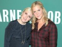 NEW YORK, NY - SEPTEMBER 30: Author/comedian Lena Dunham and actress/comedian Amy Schumer pose for a photo at the book signing for Lena Dunham's book 'Not That Kind of Girl: A Young Woman Tells You What She's 'Learned' at Barnes & Noble Union Square on September 30, 2014 in New …