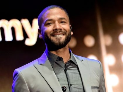 LOS ANGELES, CA - MAY 29: Actor/singer Jussie Smollett performs at the Television Academy event for Fox Tv's 'Empire' - A Performance Under The Stars at The Grove on May 28, 2015 in Los Angeles, California. (Photo by Kevin Winter/Getty Images)