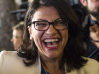 WASHINGTON, DC - FEBRUARY 05: Rep. Rashida Tlaib (D-MI) arrives ahead of the State of the Union address in the chamber of the U.S. House of Representatives at the U.S. Capitol Building on February 5, 2019 in Washington, DC. President Trump's second State of the Union address was postponed one …