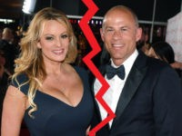 LAS VEGAS, NEVADA - JANUARY 26: Adult film actress/director Stormy Daniels (L) and attorney Michael Avenatti attend the 2019 Adult Video News Awards at The Joint inside the Hard Rock Hotel