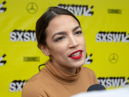 New York Rep. Alexandria Ocasio-Cortez attends the Knock Down The House movie premiere during the 2019 SXSW conference and Festivals at the Paramount Theatre on March 10, 2019 in Austin, Texas. (Photo by SUZANNE CORDEIRO / AFP) (Photo credit should read SUZANNE CORDEIRO/AFP/Getty Images)