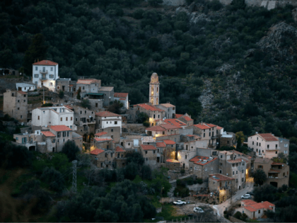 This picture taken on March 21, 2019 shows the village of Avapessa in the North of the French Mediterranean island of Corsica. (Photo by PASCAL POCHARD-CASABIANCA / AFP) (Photo credit should read PASCAL POCHARD-CASABIANCA/AFP/Getty Images)