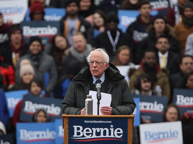 NEW YORK NEW YORK- MARCH 02 Democratic Presidential candidate U.S. Sen. Bernie Sanders speaks to supporters at Brooklyn College