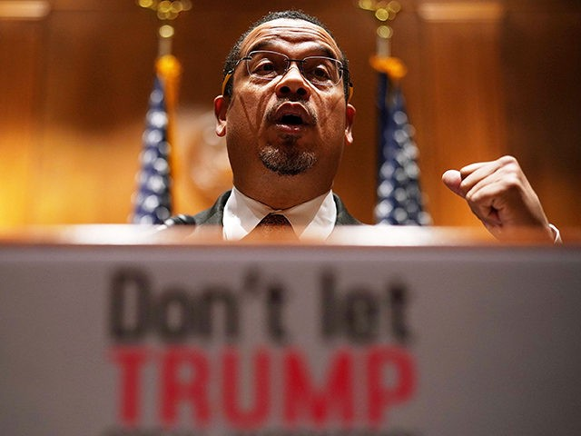 "WASHINGTON, DC - DECEMBER 12: U.S. Sen. Keith Ellison (D-MN) speaks during a news briefing December 12, 2017 on Capitol Hill in Washington, DC. U.S. Sen. Jeff Merkley (D-OR) spoke on the Labor Department's recently-proposed rule ""to make tips the property of employers; and the impact of the rule on …"