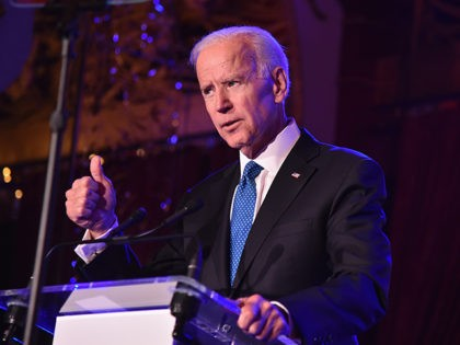 NEW YORK, NY - APRIL 18: Former U.S. Vice President Joe Biden speaks onstage at the Biden Courage Awards Presented by It's On Us at the Russian Tea Room on April 18, 2018 in New York City. (Photo by Theo Wargo/Getty Images for It's On Us)