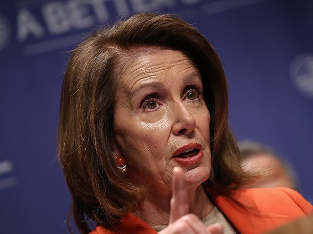 ALEXANDRIA, VA - APRIL 27: House Minority Leader Nancy Pelosi (D-CA) speaks during an event at Northern Virginia Community College April 27, 2018 in Alexandria, Virginia. Pelosi and Democratic leaders unveiled the newest plank of their economic agenda, 'A Better Deal: Tools to Succeed in the 21st Century' during the …