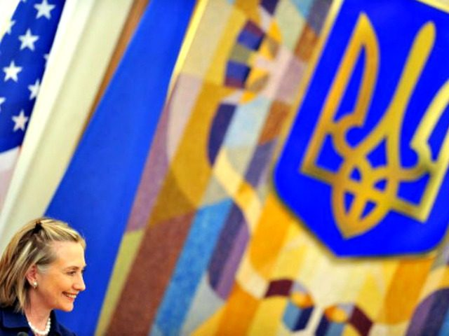 US Secretary of State Hillary Clinton smiles during the press-conference with Ukraine's President Viktor Yanukovych (Out of camera range) for the results of the talks in Kiev on July 2, 2010. Clinton arrived early Friday in Ukraine, first leg of a trip which is due to take her also to …