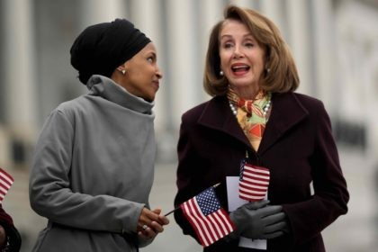 Ilhan Omar and Nancy Pelosi (Chip Somodevilla / Getty)