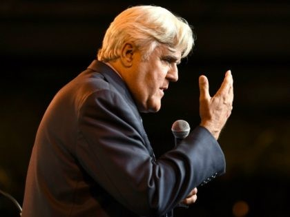NEW YORK, NY - OCTOBER 11: Jay Leno speaks onstage during the 20th Anniversary Gala to celebrate Hudson River Park at Pier 60 on October 11, 2018 in New York City. (Photo by Dimitrios Kambouris/Getty Images for Hudson River Park)