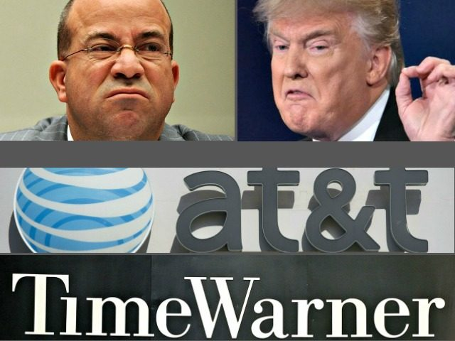 Jeff Zucker, Donald Trump-AT&T,Time Warner Merger